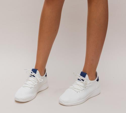 Pantofi Sport Zoha Albi 2 - Incaltaminte sport dama -