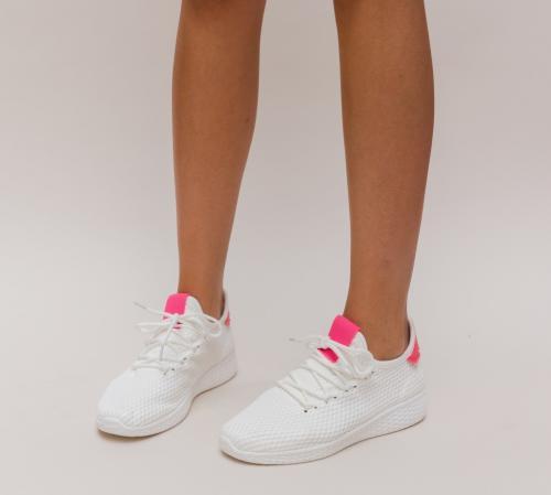 Pantofi Sport Zoha Albi - Incaltaminte sport dama -