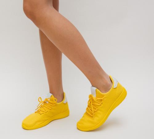Pantofi Sport Zoha Galbeni - Incaltaminte sport dama -