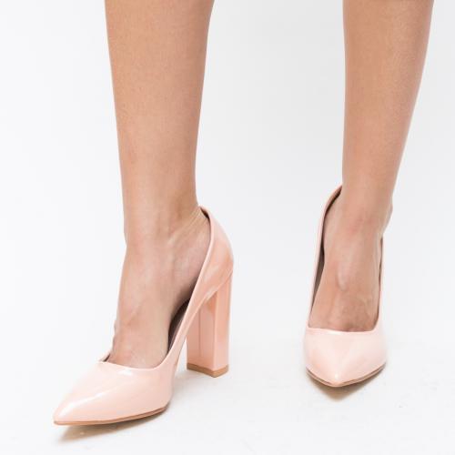 Pantofi Zoven Roz - Pantofi eleganti - Pantofi cu toc gros