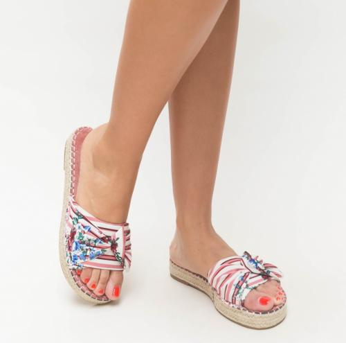 Papuci Asio Roz - Sandale dama ieftine - Slapi