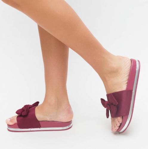 Papuci Class Grena - Sandale dama ieftine - Slapi