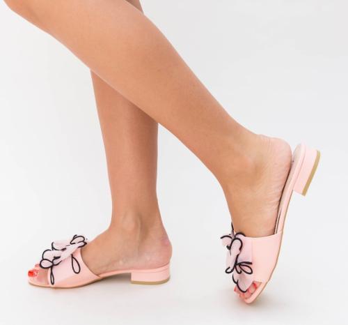 Papuci Magaza Roz - Sandale dama ieftine - Sandale cu talpa joasa
