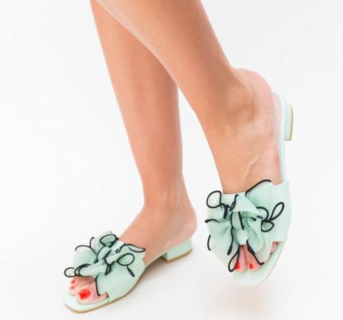 Papuci Magaza Verzi - Sandale dama ieftine - Sandale cu talpa joasa