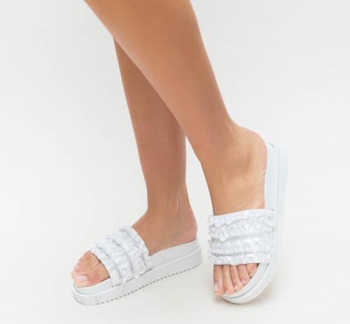 Papuci Milona Albi - Sandale dama ieftine - Sandale cu talpa joasa