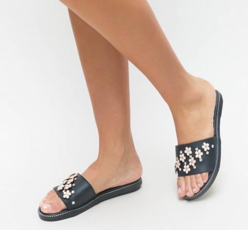Papuci Stol Negri - Sandale dama ieftine - Slapi