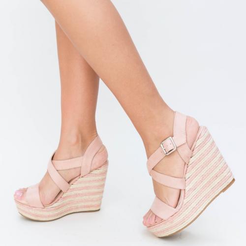 Platforme Delcea Roz - Sandale dama ieftine - Sandale cu platforma