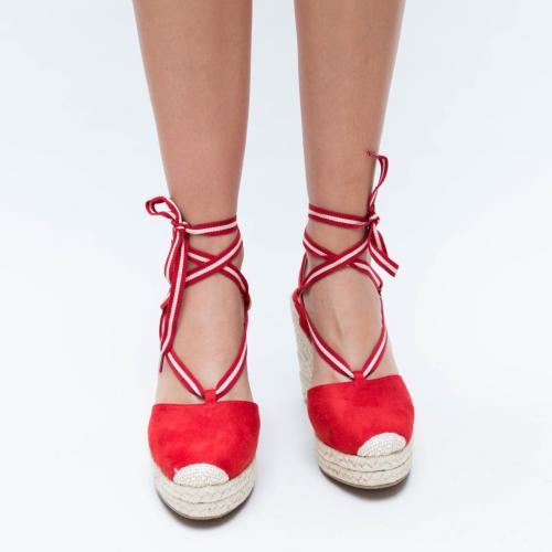 Platforme Olia Rosii - Sandale dama ieftine - Sandale cu platforma