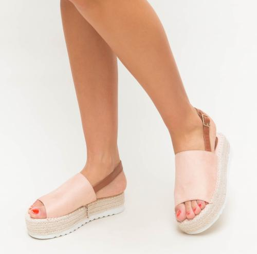 Platforme Sedy Roz - Sandale dama ieftine - Sandale cu platforma
