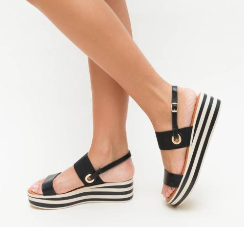 Platforme Sucre Negre - Sandale dama ieftine - Sandale cu platforma