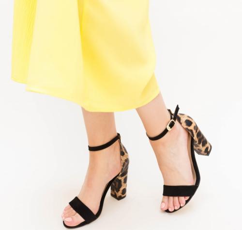 Sandale Amiza Negri - Sandale dama ieftine - Sandale cu toc
