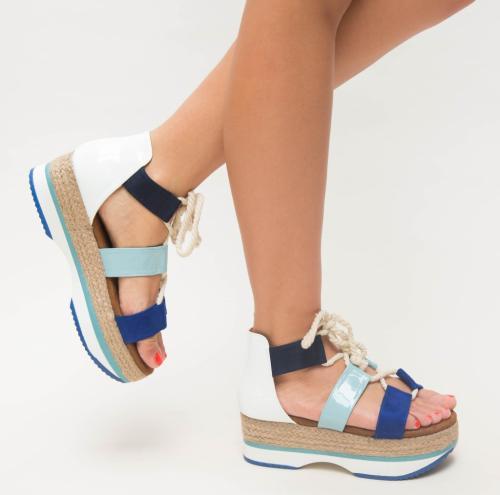 Sandale Arkas Albastre - Sandale dama ieftine - Sandale cu platforma