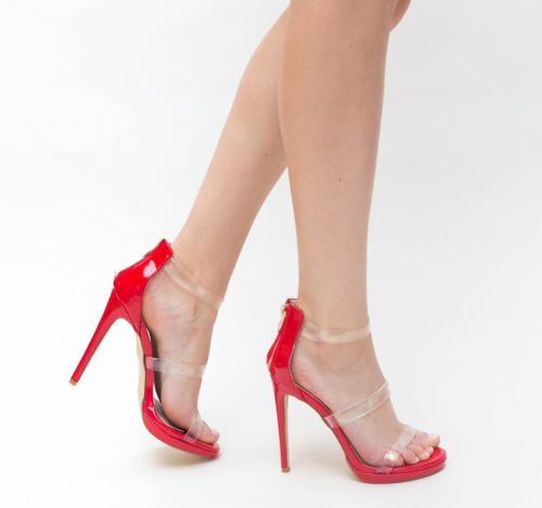 Sandale Avec Rosii - Sandale dama ieftine - Sandale cu toc subtire