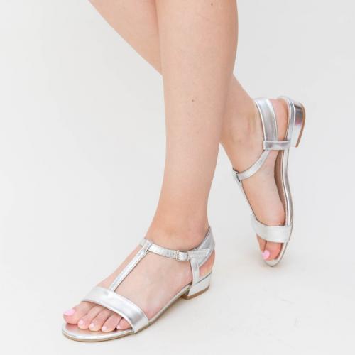 Sandale Bonza Argintii - Sandale dama ieftine - Sandale cu talpa joasa