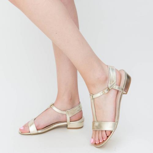 Sandale Bonza Aurii - Sandale dama ieftine - Sandale cu talpa joasa