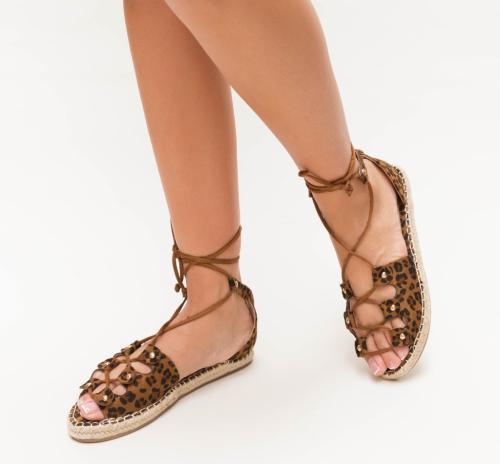 Sandale Budu Leopard - Sandale dama ieftine - Sandale cu talpa joasa