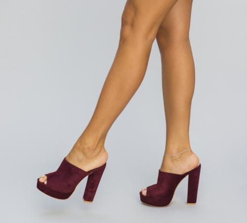 Sandale Bufy Grena - Sandale dama ieftine - Sandale cu toc gros