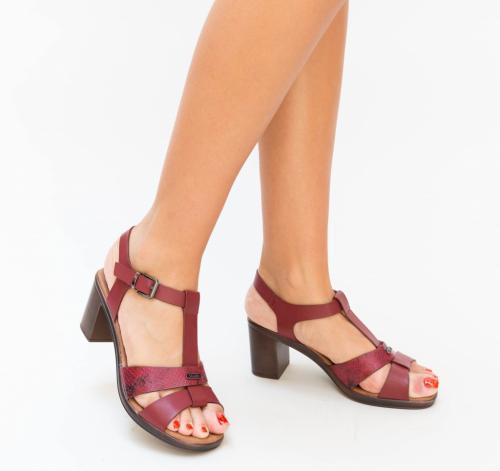 Sandale Duski Grena - Sandale dama ieftine - Sandale cu toc gros