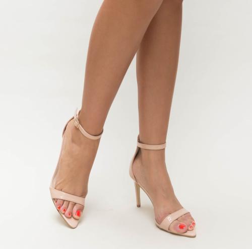 Sandale Elvira Bej - Sandale dama ieftine - Sandale cu toc subtire