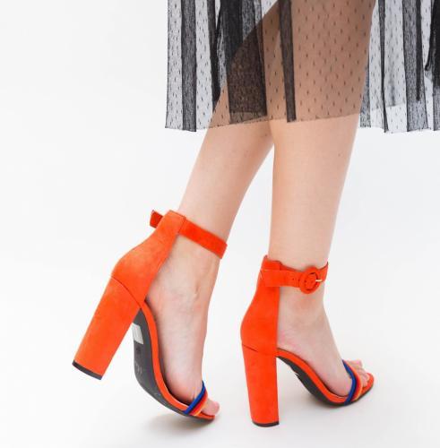 Sandale Epio Rosii - Sandale dama ieftine - Sandale cu toc gros