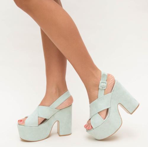 Sandale Farao Verzi - Sandale dama ieftine - Sandale cu toc gros