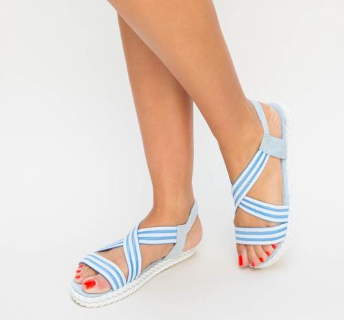 Sandale Giki Albastre - Sandale dama ieftine - Sandale cu talpa joasa