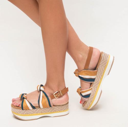 Sandale Laisez Galbene - Sandale dama ieftine - Sandale cu platforma
