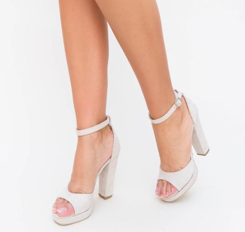 Sandale Lord Bej - Sandale dama ieftine - Sandale cu toc gros