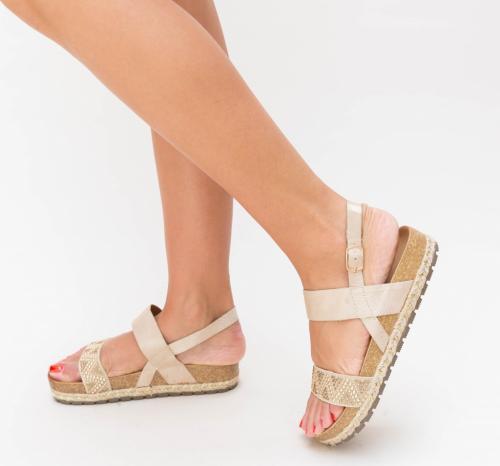 Sandale Lupau Bej - Sandale dama ieftine - Sandale cu talpa joasa