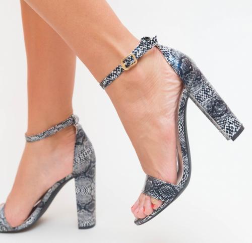 Sandale Mamba Negre - Sandale dama ieftine - Sandale cu toc gros