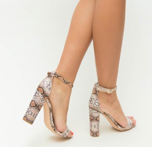 Sandale Mamba Nude - Sandale dama ieftine - Sandale cu toc gros
