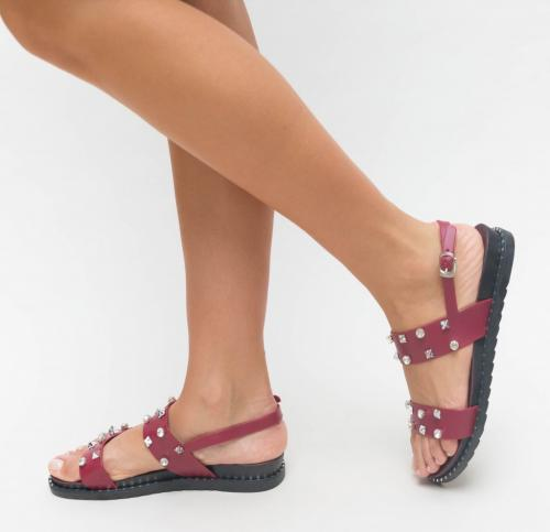 Sandale Mesal Grena - Sandale dama ieftine - Sandale cu talpa joasa