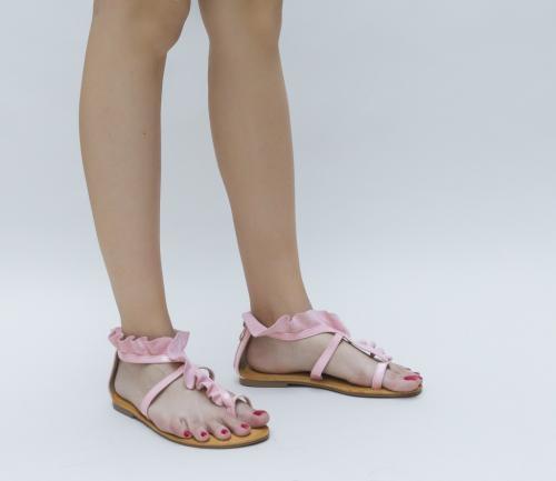 Sandale Miona Roz - Sandale dama ieftine - Sandale cu talpa joasa