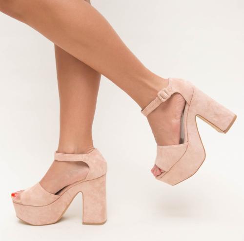 Sandale Mirma Roz - Sandale dama ieftine - Sandale cu toc gros