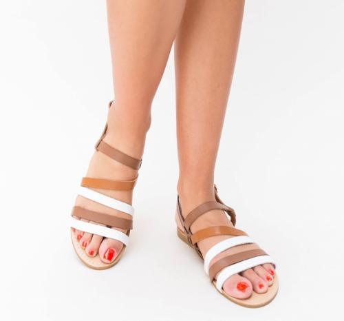 Sandale Olto Albe - Sandale dama ieftine - Sandale cu talpa joasa