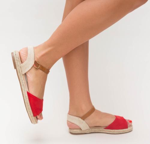 Sandale Prova Rosii - Sandale dama ieftine - Sandale cu talpa joasa