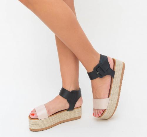 Sandale Salonik Roz - Sandale dama ieftine - Sandale cu platforma