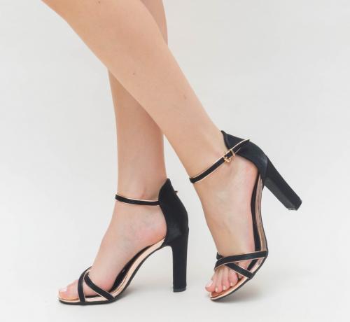 Sandale Semiro Aurii 2 - Sandale dama ieftine - Sandale cu toc gros