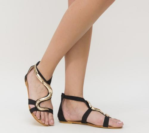 Sandale Seta Negre - Sandale dama ieftine - Sandale cu talpa joasa