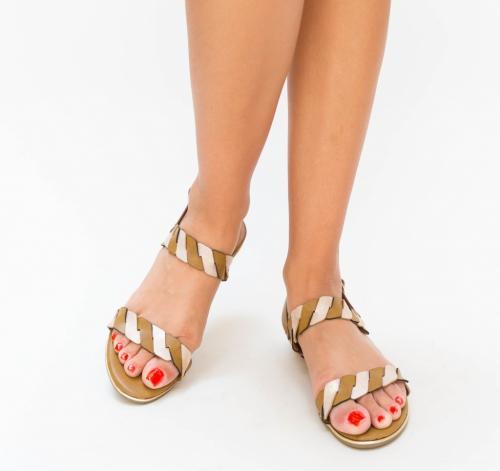 Sandale Teldo Maro - Sandale dama ieftine - Sandale cu talpa joasa