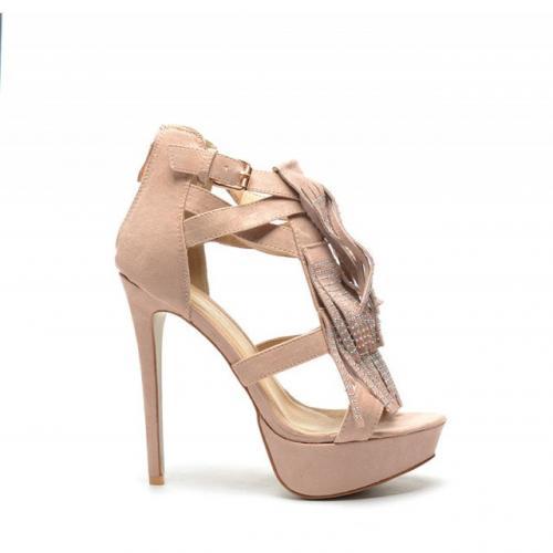Sandale Venre Bej - Sandale dama ieftine - Sandale cu toc