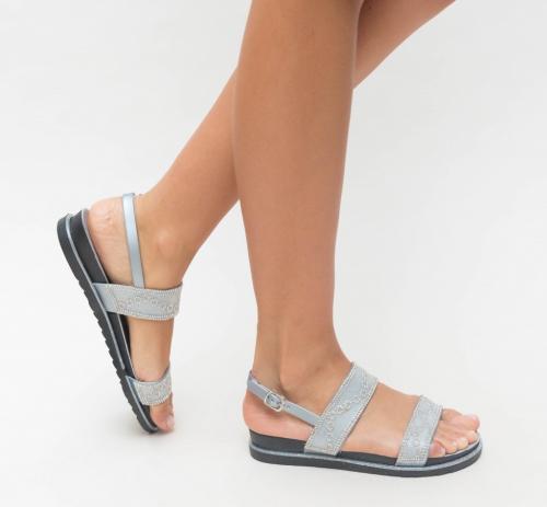 Sandale Voli Argintii - Sandale dama ieftine - Sandale cu talpa joasa