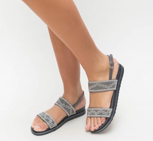 Sandale Voli Gri - Sandale dama ieftine - Sandale cu talpa joasa