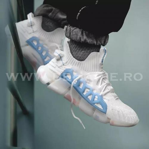 Adidasi barbati casual albi B3622 - Incaltaminte barbati -