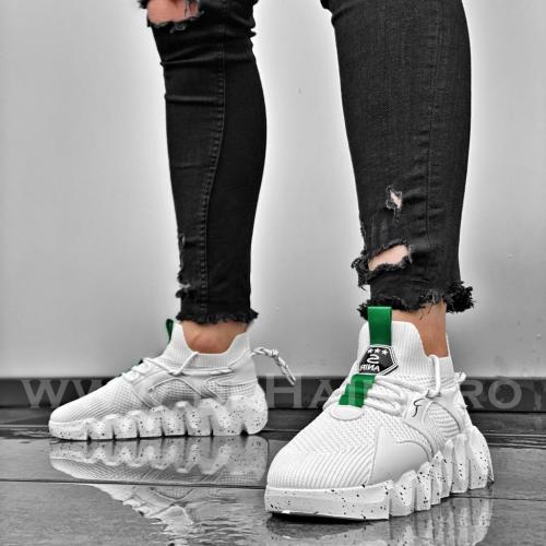 Adidasi barbati casual albi B3645