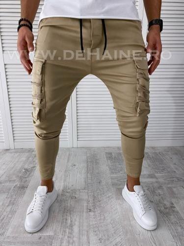 Blugi barbati bej conici B2774 M - Pantaloni barbati - Blugi barbati
