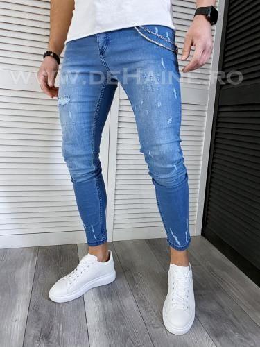 Blugi barbati conici albastri 115 H6-4* - Pantaloni barbati - Blugi barbati
