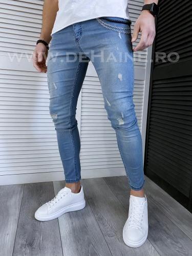 Blugi barbati conici albastri 116 H1-1* - Pantaloni barbati - Blugi barbati