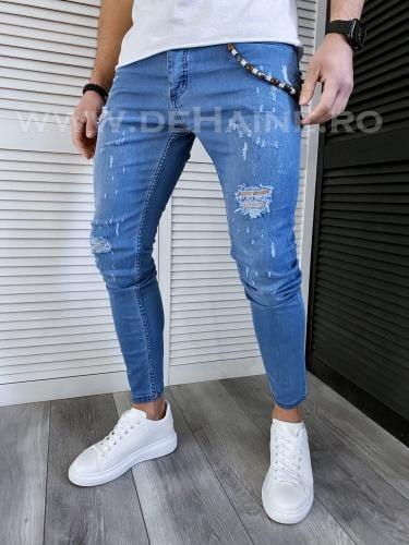 Blugi barbati conici albastri 117 H5-67* - Pantaloni barbati - Blugi barbati