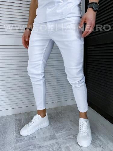 Blugi barbati conici albi 1014 H7* - Pantaloni barbati - Blugi barbati